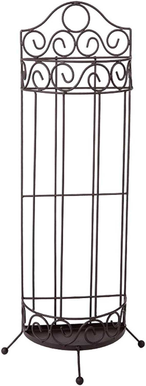 LANA European Semi-Circular Umbrella Stand Matte Texture Creative Home Office Wrought Iron Multifunction Storage Rack (color   Black)