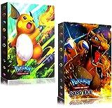 2 Juegos Álbum de Cartas Pokemon Carpeta de Titular de Tarjetas Álbum de Fundas Cartas Coleccionables Sobres de Tarjetero Pokémon Cards Album, Tiene 30 Páginas y Puede Contener 240 Tarjetas