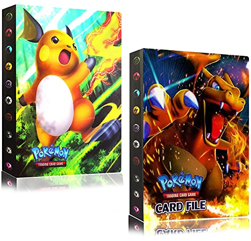 2 Pièces Livre Pokémon Carte Pochette Pokemon EX Boite Grande Rangement Classeur Album Cahier Range Porte Carte Pokemon, Capacité de 30 Pages Capacité de 480 Cartes