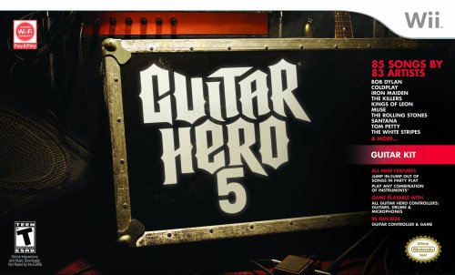 Wii Guitar Hero 5 Guitar Bundle