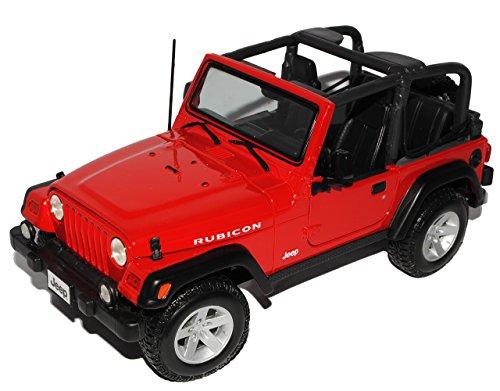 mächtig Maisto Jeep Wrangler Bicon Cabriolet Automodell 1/18 Automodell