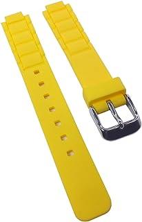 Correa de Repuesto para Reloj de Pulsera Casio Collection para Mujer de Resina Amarillo LTP-1331