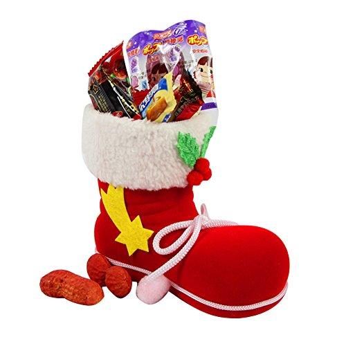 LAEMILIA Weihnachtsstrumpf Geschenktüten Weihnachten Socke Geschenktaschen Weihnachtsstiefel Süßigkeiten Beutel Weihnachtsdeko (Rot)