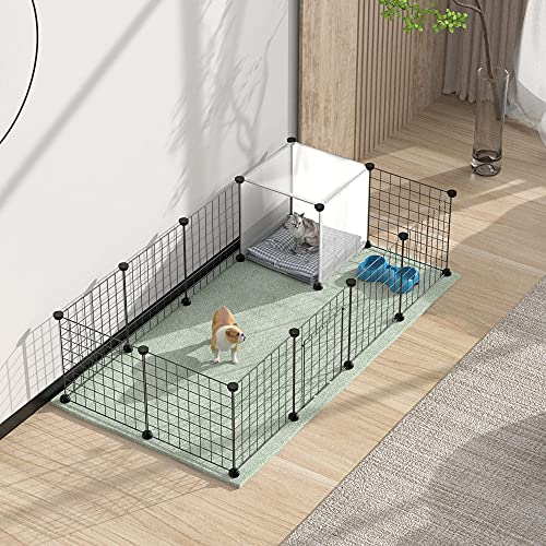 """HOMIDEC Pet Playpen,Small Animals Cage DIY Wire Fence with Door for Indoor/Outdoor Use,Portable Yard Fence for Small Animal,Puppies,Kitties,Bunny,Turtle 55"""" x 28"""" x 14"""""""