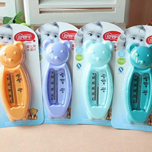 Uzinb Termómetro de baño para los recién Nacidos el pequeño Oso de Agua Medidor de Temperatura del baño