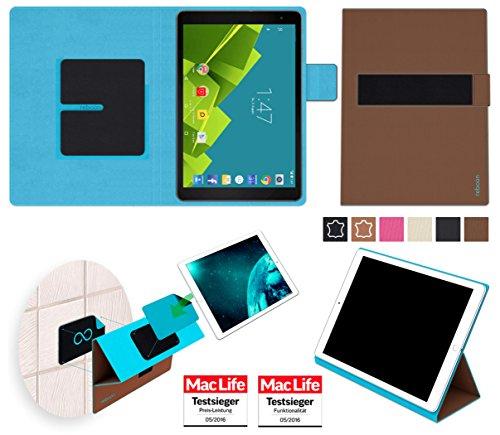 Hülle für Vodafone Tab Prime 6 Tasche Cover Hülle Bumper | in Braun | Testsieger