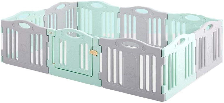 exclusivo LIUFS-Valla Juego de Niños Valla Aprendizaje en Interiores y al al al Aire Libre Caminar con Almohadillas de Arrastre Seguridad contra la caída Hogar gris y verde (Color   11+1 Fence)  autentico en linea
