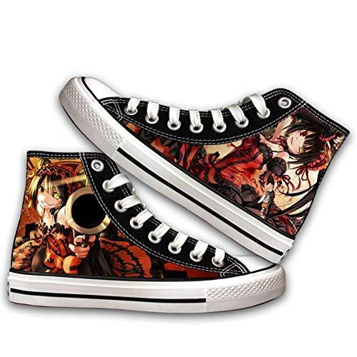 Ga-yinuo Dating Competition Alpargatas Zapatos Hombre Zapatillas Casual Bambas Zapatos Mujer Adolescente Zapatillas Deportivas Zapatos Planos Unisex Anime Shoes 35