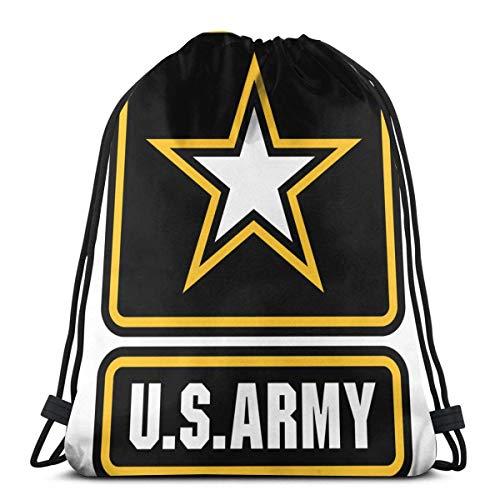 Bolsa De Cuerdas Ejército De Estados Unidos Bolsa Lavar A Máquina Mochila Niños con Cordón Bolsa De Deporte para Viaje, Piscina, Natación, 36X42Cm