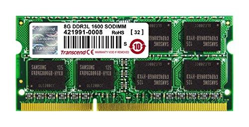 Transcend ノートPC用メモリ PC3L-12800 DDR3L 1600 8GB 1.35V (低電圧) – 1.5V 両対応 204pin SO-DIMM TS1GSK64W6H