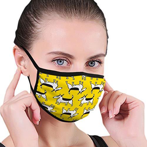 NA Waschbare und Wiederverwendbare Gesichts-Mund-Maske Schutz Bullterrier Hunde Haustiere Charakter Bullterrier Hunde Haustiere Charakter Mode
