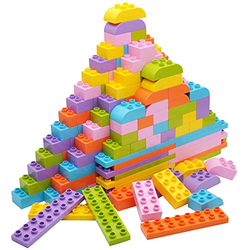 JOYIN Big Building Blocks 180pieces Classic Bricks 6 Colors | Large Building Bricks STEM Toy for All Ages Compatible with Major Brands