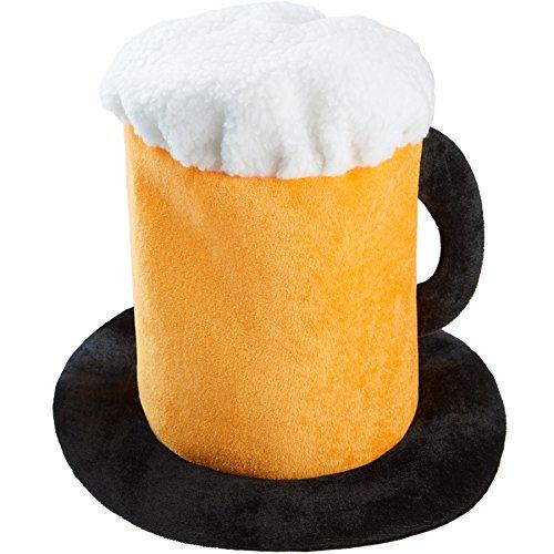 dressforfun 302061 - Hut Bierkrug, hoher Party-Bierhut mit Henkel, ideal geeignet für Oktoberfest, Junggesellenabschiede oder Mottopartys