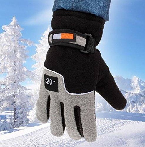 GrandSiri 1-Pc (1-Pair) Best Popular Hot Mens Thermal Warm Glove Motorcycle Hand Cover Snow Decoration Motorbike Outdoor Sports Color Black