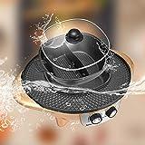 TTLIFE Hot Pot Grill 2 en 1 - Barbacoa eléctrica portátil