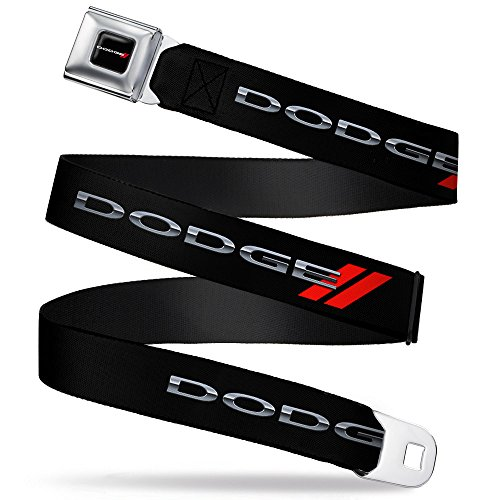 "Buckle-Down Seatbelt Belt - Dodge Red Rhombus REPEAT - 1.5"" Wide - 24-38 Inches in Length"