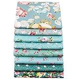 YYSZ 8 pièces 46 x 56 cm Tissus en Couture, Tissus en Coton pour Patchwork, Paquets de Tissus pour Patchwork et Patchwork de, Tissu au Metre Patchwork Multicolore