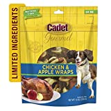 Cadet Premium Gourmet Chicken & Apple Wrap Treats for Dogs, 14 oz.