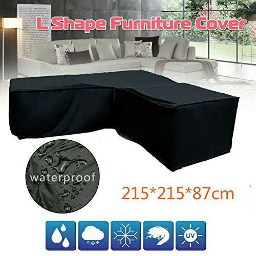 Kacniohen Rectangular Muebles de terraza Cubierta, Heavy Duty Impermeable a Prueba de Viento Jardín de Muebles al Aire Libre Cubierta Anti-UV Couch Protector 215 * 215 * 87cm