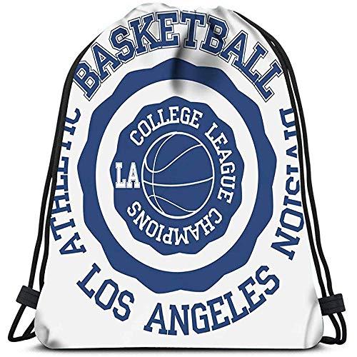 Sanme Kordelzug Rucksack Basket Ball Los Angeles Wäschesack Gym Yoga Bag