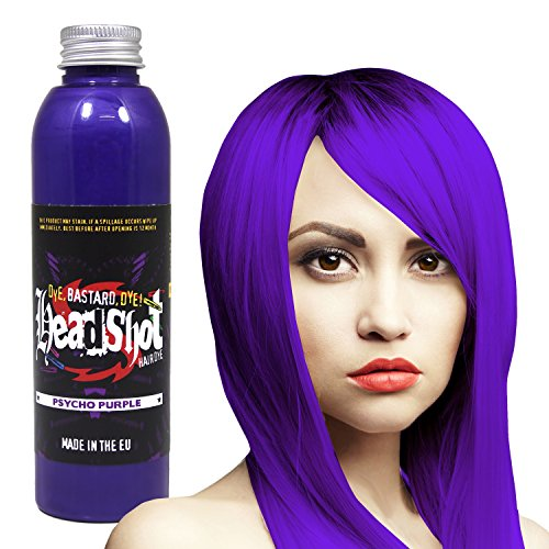 Lila Haarfarbe Headshot Psycho Purple, Semi-permanente Haartönung 150 ml