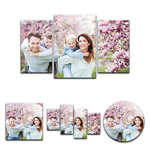 Mein Foto auf Leinwand - Wunschmotiv - 100x60 cm 3 teilig - SOFORT VORSCHAU - Eigenes Bild - Deine eigene individuelle Foto-Leinwand - Dein Wunschmotiv aufgespannt auf Bilderrahmen