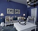 Papel Pintado Tejido No Tejido 3D Color De Pigmento Puro Simple Moderno No Autoadhesivo Salón Papel de Pared,Dormitorio Papel de Pared,TV Fondo De Pantalla 0.53 x 9.5 m (Azul Marino)