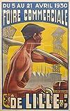 Loire de Lille 1930 Poster, Format 50 x 70 cm, Papier, 300