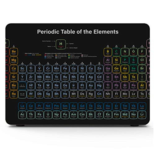 MacBook Pro Shell Periodic Table of Elements in Black Background MacBook Pro Case 2015 Hard Shell Mac Air 11'/13' Pro 13'/15'/16' with Notebook Sleeve Bag for MacBook 2008-2020 Version