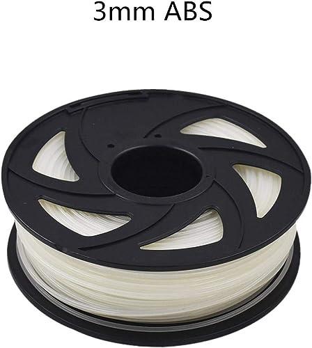 discount ABS 3D outlet sale Printer Filament - 2.20 lb online sale (1KG) The Diameter of 3.00 mm, Dimensional Accuracy ABS Multiple Color (Transparent) outlet online sale