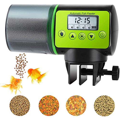 Futterautomat Aquarium, Podazz Automatisierte Futterspender, Aquarium Futterautomat, für Fische mit 4 Mal Fütterung Zeit Einstellung, geeignet für Aquarium, Fischtank und Schildkrötentank
