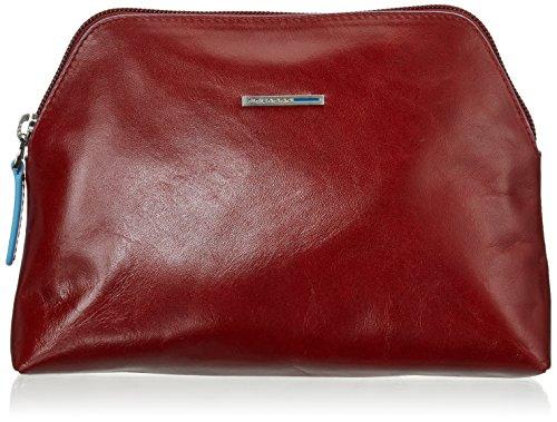 PIQUADRO Nécessaire Collection Blue Square Beauty Case, 22 cm, Rouge (Rouge) - BY3795B2/R