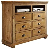 Progressive Furniture Willow Media Chest, Distressed Pine