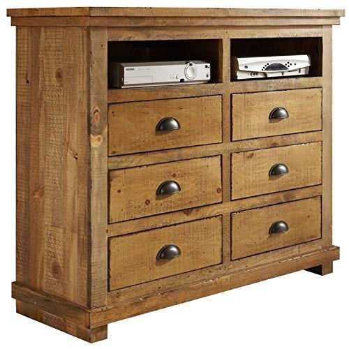 Progressive Furniture Willow Media Chest, Distressed Pine