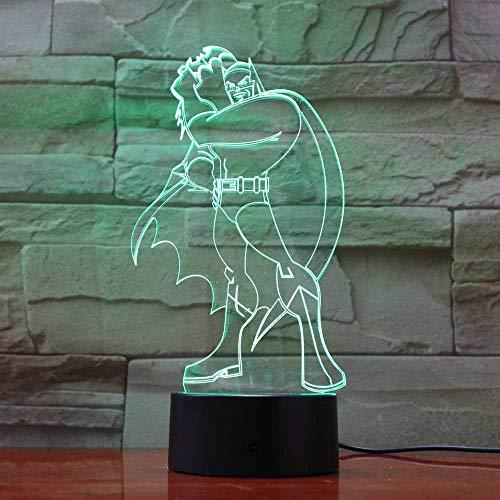 Colors 7 Changing Home Atmosphere 3D Batman Table Lamp Led Super Hero Night Light Lighting Luminous Light Fixture Gifts