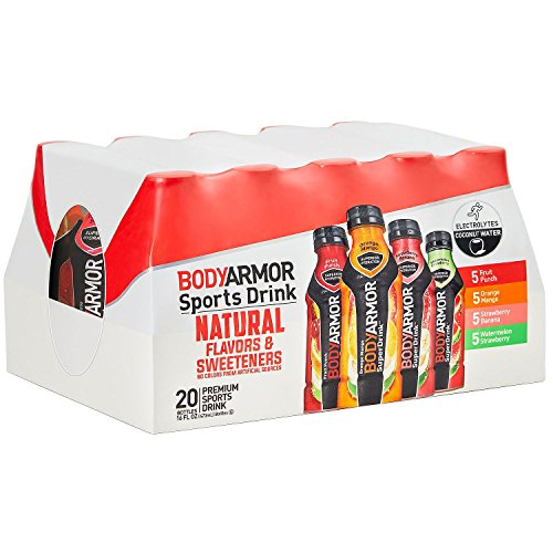 BodyArmor Sport Drink Variety Pack 4 Flavors Bottles (Pack Of 20) 16 Fl Oz, 320 Fl. Oz