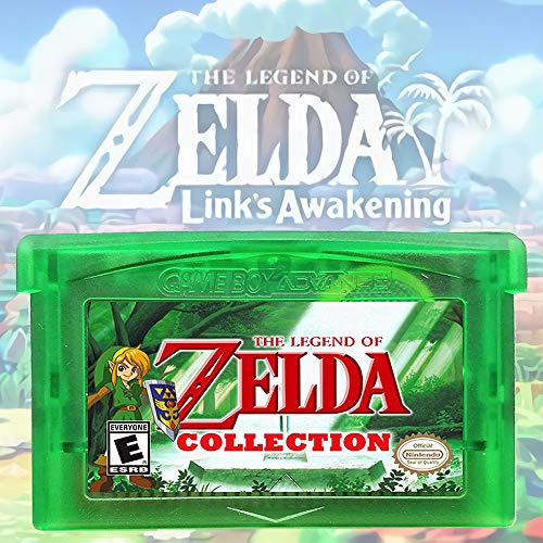 Zelda Collection Multicart Version 5-in-1 Gameboy Advance GBA, Third-Party Games Cards Cartridge Compatible with GBM/GBA/SP/NDS/NDSL (Link's Awakening DX, Oracle of Ages / Seasons, etc)