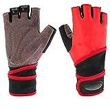 WUJIEXIAN-JXL Sport und Fitness Armband Längliche halbe Finger-Handschuhe Fahrhandschuhe