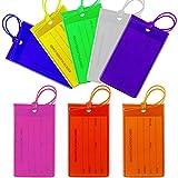 AILANDA 8pcs Etiquetas para Equipaje Etiquetas de Viaje de Silicona Flexible con Etiqueta de identificación para Bolsas de Equipaje Maletas Mochilas 8 Colores