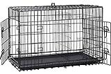 BestPet 30' 2 Door Folding Dog Crate Cage Kennel LC ABS