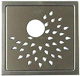 Aquieen Stainless Steel Bathroom Floor Water Drain Grating (Floor Jali) (Gratings Pipe Cut, Sunflower)