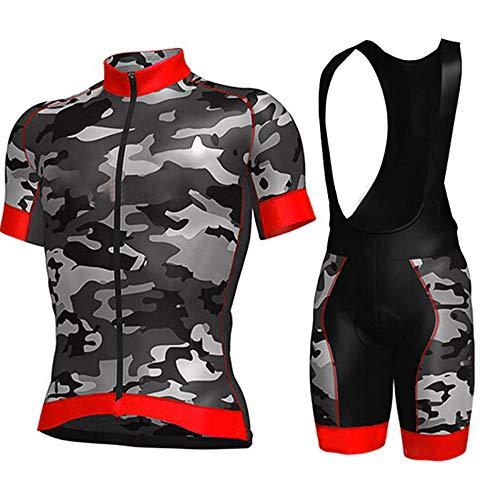 HXTSWGS Maillots de Manga Corta para Bicicleta Ciclismo Ropa,Pro Team Cycling Jersey Men Short Sleeve MTB Riding Bicycle Sports Clothing-A06_XL