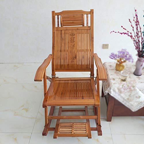 Lehehe Schommelbank, inklapbaar, tuinstoel met verstelbare voetensteun en ligstoel voor camping, prato, patio, picknick F006