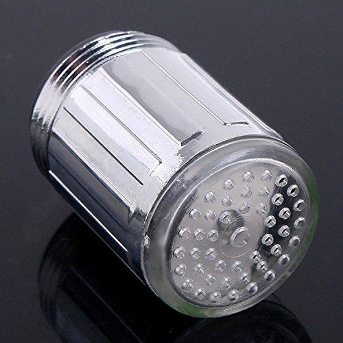 365-Shopping 2er Set Wasserhahn-Aufsatz mit automatischem Farbwechsler durch Wasserkraft – 7 LED Farbwechsler LED Shower mit Beleuchtung - 2