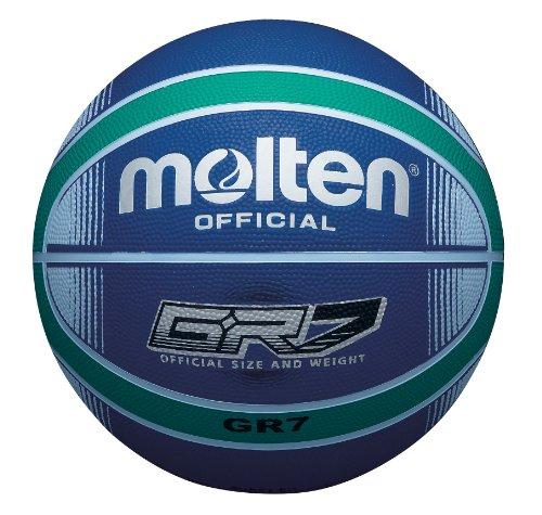 Molten - Pallone da basket, misura 6, colore: nero/giallo