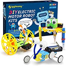 Giggleway Electric Motor Robotic Science Kits, DIY STEM Toys for kids, Building Science Experiment Kits for Boys and Girls-Doodling, Balance Car, Reptile Robot (3 kits)