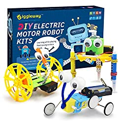 Giggleway Electric Motor Robotic Science Kits, DIY STEM Toys for Kids
