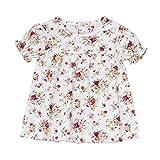 JUTOO Sommer Infant Baby Mädchen Kurzarm Blumendruck Kleid Kleider (Weiß,70(3M-6M))