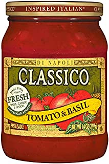Classico Tomato & Basil Pasta Sauce (14 oz Cans, Pack of 12)