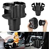 Car Cup Holder Expander, Car Cup Holder Adapter Organizer with Adjustable Base,Unique 2 In 1 Design Soft Drink Can Coffee Bottles Stand, Universal Detachable Water Bottle Holder for Cars
